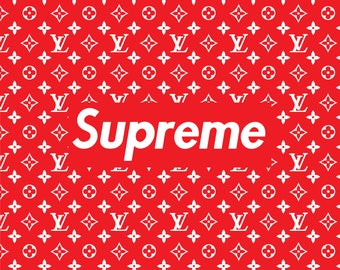 SUPREME Poster A1 Large bedroom poster stylish and trendy collab with Louis V Rare