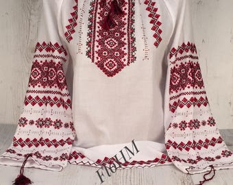 Handmade Embroidered Ukrainian Blouse Vyshyvanka