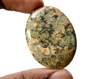 Leopard Skin Jasper 45 Cts Natural Gemstone Cabochon Jaguar Gemstone Superb Oval Shape Hand Polish Loose Gemstone 42x31x5 MM R13972