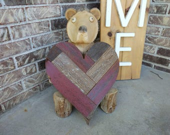 14 inch Barn Heart, Reclaimed, Barn Wood