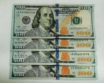 New consecutive serial number US star note, US currency, 29290229 and more Collectible dollars, special serial number collectable dollar