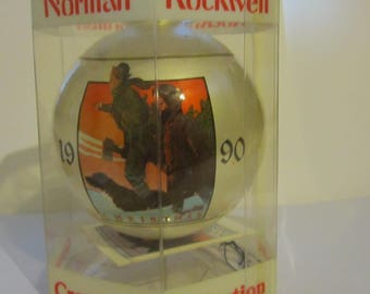 Norman Rockwell Christmas Ornament Ball 1990 Dave Grossman Collection   (#614)