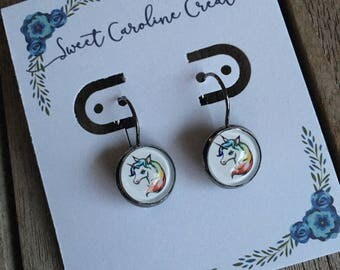 Unicorn dangle earrings