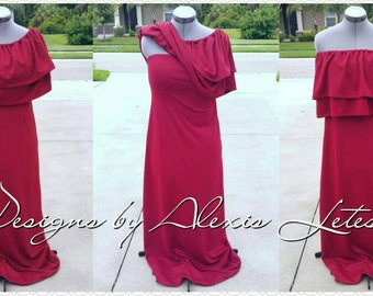 Nursing dress; Nursing Clothes: Nursing Maxi Dress; Breastfeeding dress, Breastfeeding dress; Maternity Top; Ruffle Shirt; Gift for her
