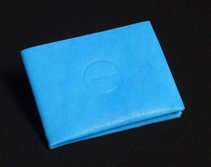 6-Pocket Wallet - Tiffany Blue - Kangaroo leather with RFID credit card blocking - Handmade - Mens/Womens - James Watson