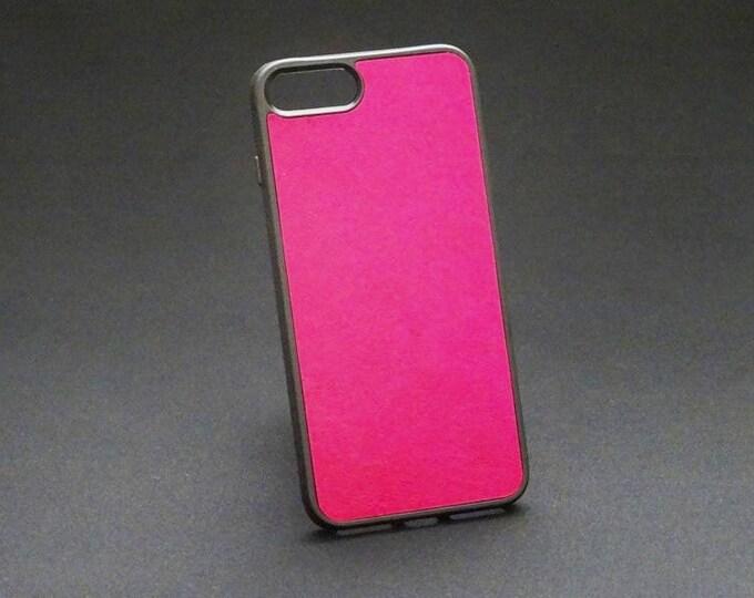 Apple iPhone 7+ Plus 8+ Plus - Jimmy Case in Rich Pink - Kangaroo leather - Handmade - James Watson