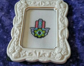 Hamsa cross stitch