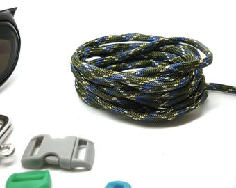 Paracord 550 in 4 mm khaki blue yellow white - bracelet-survival, bag, backpack, gear hiking - by the yard