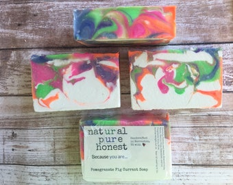 Pomegranate Fig Currant Soap - Free Shipping Option!