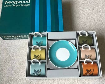 Vintage 1960s Susie Cooper Wedgwood Boxed Coffee Set