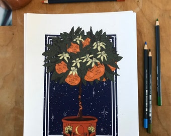 Clementine Cuties Art Print by Madison Ross