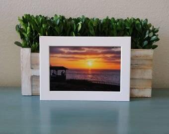 Print, Frame, Sunset Hut, 4x6 Print, LaJolla, San Diego, California, Sunset, Ocean