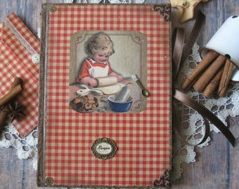 Grandma's recipe book, blank recipe book, rustic recipe book, vintage recipe book, recipe journal, rustikal rezeptbuch, rezeptheft