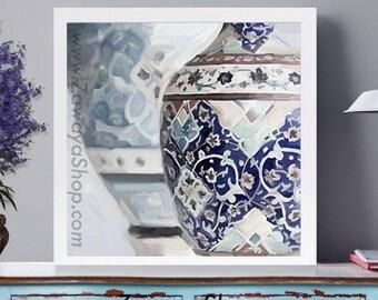 Moroccan vase ornaments digital prints, affordable Arabic motifs poster prints