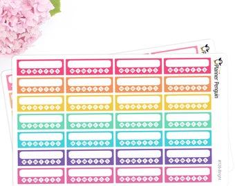 Habit tracker stickers For Erin Condren Life Planner, EC Horizontal or any other Planner // Item #126