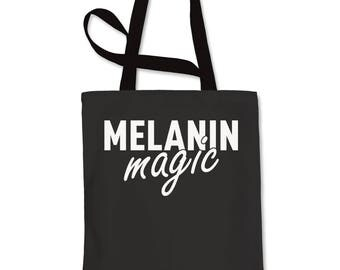 Melanin Magic Shopping Tote Bag