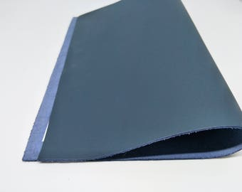 "Leather Scrap, Genuine Leather, Leather Pieces, Midnight Blue, Size 8.25"" by 11.5""  Leather Scrap for DIY Projects."
