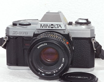 Minolta X-370 35mm Film Camera with a 50mm f2 MD lens Photography Student