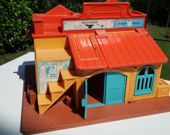 Vintage 1982Fisher Price Little People Western Town