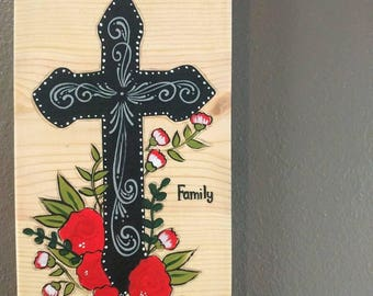 Cross Wooden Sign