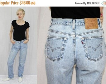 Summer Sale Vintage 80s Levis 512 HIGH Waist Slim Fit Straight Leg Retro MOM Jeans USA 9 30x32