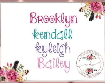 Any Word Decal - Personalized Name Decal - Custom Name Decal - Any Word Decal - School Decal - Name Decal - Word Vinyl Decal -Vinyl Decal
