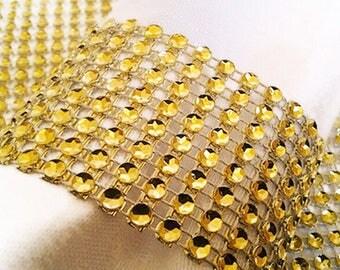 100PCS Rhinestone Napkin Rings Holder,Bling Napkin Rings,Gold Napkin Ring Diamond,Rhinestone Chair Bow Covers,Crystal Wedding Napkin Rings