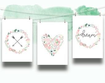 PRINTABLE: Three Piece Floral Dream Print- 8.5 X 11