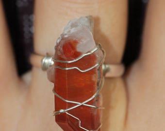 Unique rare Hematoid quartz ring