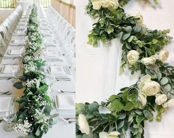 Wedding Centerpieces Garland Greenery Arbor Swag Arch