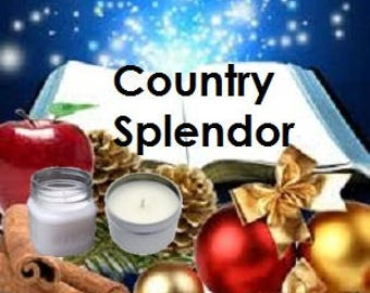 Country Splendor Soy Candle 8 oz Soy Wax Mason Jar Candle, Handmade, Hand Poured Pick Your Style and Color