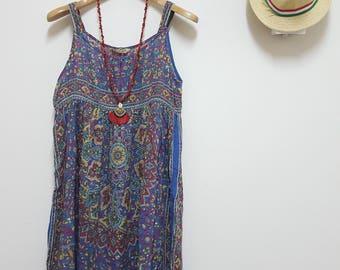 FREE SHIPPING,Vintage India dress, Cotton dress, Hippie dress, Boho dress, Summer dress