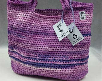 JUST A BAG recycled purple bag