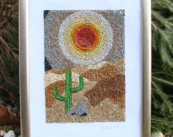Mosaic Framed art Sunset
