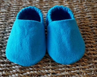 Turquoise Baby Shoes, Crib Shoes, Soft Sole Baby Shoes, Baby Bootie, Baby Moccs, Baby Moccasins, Baby Booties, Baby Shower Gift