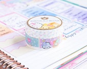 "SET OF 2 // Birthday Collection - ""Birthday Rainbow"" and ""Skinny Birthday Confetti"" [Rainbow Washi, Confetti Washi, Pastel] // W068 & W069"