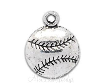Baseball Player Dangle Charm Pendant