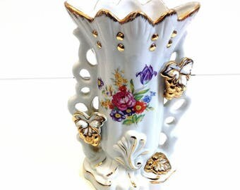 vintage french porcelain vase,  french wedding vase, bridal vase