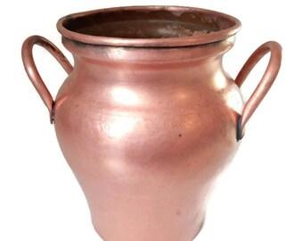 antique french copper pot, Goardere copper, copper planter