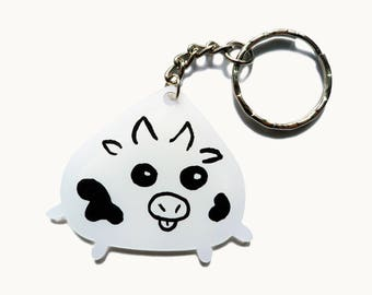 Cow Keychain - Cute Keychain - Acrylic Keychain - Kawaii Keychain - Bag Charm - Cute Cow - Kawaii Gift - Birthday Gift - Cute Accessory