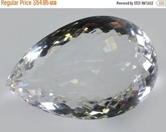 50% SALE A++ Quality 103 Ct. Designer Faceted Cut Natural Crystal Quartz Briolette 41x27x15 mm Handmade Loose Gemstone Making Jewelry