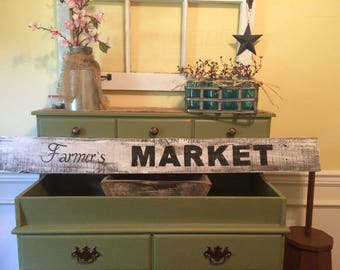 Rustic Farmer's Market Sign Wide