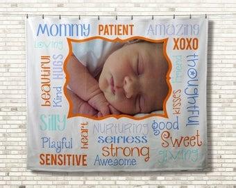 Custom Photo Blanket, Baby Photo Blanket, Custom Picture Blanket, Personalized Photo Gift, Custom Photo Memory Blanket, Memorial Blanket