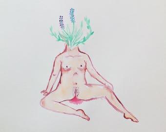 HYACINTH original watercolour art