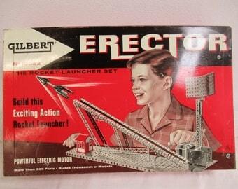 Vintage Gilbert Erector Set The Rocket Launcher Set No 10052 E