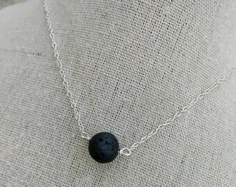 Diffuser Necklace - Lava Stone Diffuser- Essential Oil Diffuser Necklace - Small Lava Bead necklace - Aromatherapy - oils diffuser necklace