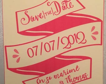 """""""Save the date"""" for wedding"""