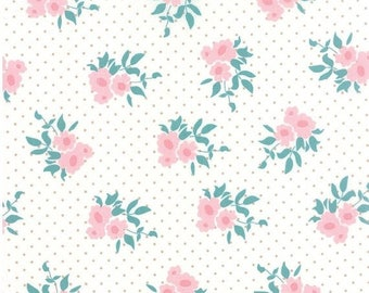 EXTRA 20% OFF Medium Floral Natural - KINDRED Spirits - Bunny Hill Designs for Moda Fabrics - 2891 11 - Ivory