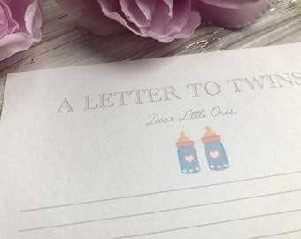 Baby Shower- A Letter to Twins- Boys