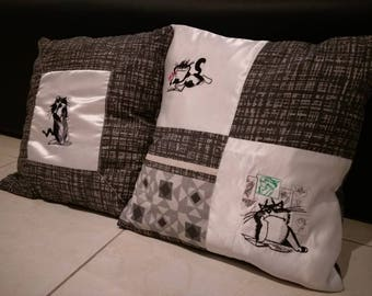 Cat lover pillow cover